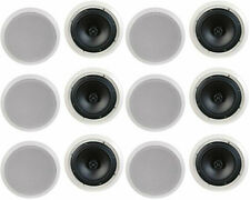 "NEW (12) 8"" Ceiling In-wall Speakers.Contractor Business Lot.Stereo Flush Mount"