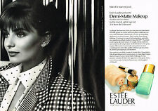 PUBLICITE ADVERTISING 074  1989  ESTEE LAUDER cosmétiques DEMI-MATTE MAKE-UP(2p