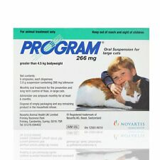 Program Large Cat Flea Prevention Treatment - 6 Pack Oral Suspension over 4.5Kg