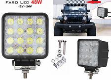 Faro supplementare LED Auto,Suv 12-24V universale.Faretto rotondo fendinebbia 48