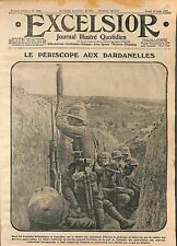 Dardanelles Campaign Battle of Gallipoli Trenches Tommies Périscope  WWI 1915