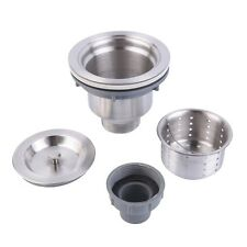 Stainless Steel Kitchen Sink Drain Assembly Waste Strainer and Basket OE