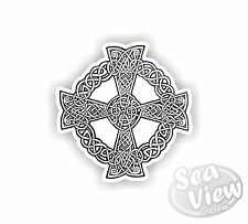 Cornish Kernow Cornwall Celts Celtic Cross White Car Van Stickers Decal Sticker