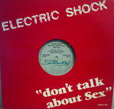 "Electric Shock ‎""Don't Talk About Sex"" RARE 1988 Belgium NEW BEAT 12"""