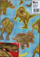 Natural History Dinosaurs 2 sheets of  gift wrap & 2 gift tags Wrapping Paper