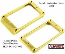 NEW - Metal GOLD Humbucking Slanted Pickup Rings, Curved Bottom - for Gibson