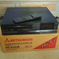 Mitsubishi HS-413UR Hi Fi Stereo 4 Head VCR VHS Tape Player Recorder w Remote