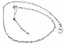 Authentic Bvlgari Bulgari 18k White Gold Simple Chain Necklace