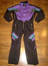 Vtg 90s SPYDER Black MENS XL Onesie Snow SKI Suit BIB gaper Jacket Coat Snowsuit