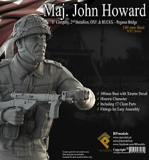 RP Models Major John Howard WW2 Unpainted 1/10th scale bust kit Ltd Edition OOP