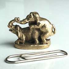 Miniature Figurine Brass Elephant Animal Metalwork #39