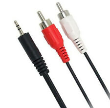 Headphone Plug Jack 3.5mm to Red White RCA Aux Stereo Audio Sound Cord Cables y7