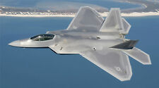 "F22 RAPTOR MILITARY JET AIR FORCE JET 24""x 43"" LARGE HD WALL POSTER PRINT"