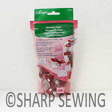 CLOVER WONDER CLIPS (100 PIECES) #3159 for CRAFTS and HOBBIES
