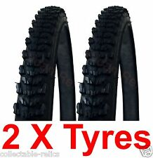 2X Duro Raider Inch 26 Tyre 26 X 1.75 Mountain Bike MTB Bicycle Bike Tire Black