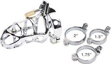 Chrome Alcatraz Male Chastity Kit- 3 Rings Included -USA Seller - Fast Shipping!