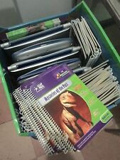 LeapFrog Schoolhouse Learning system Quantum pad Lot of 3 w/ 36 books and carts