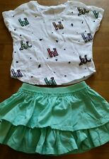 Piper girls size XS 4/5 two piece outfit, skirt, pretty!