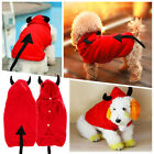 Small Dog Pet Cat Puppy Clothes Apparel Warm Coat Devil Costume Outfit Hoodie