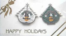 Hard Rock Cafe BANGKOK 1997 Christmas/Happy Holidays Pins 2 Tress on card