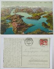 litho panoramakarte schweiz 1910