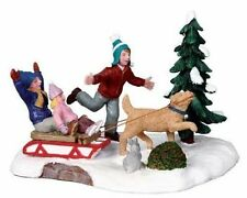 Lemax Decoration 'Rover Takes Charge' Humorous Christmas Cake Decorating Figures