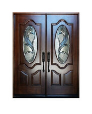 "Double Exterior Front Entry Wood Door M800G 30""X80""X2"