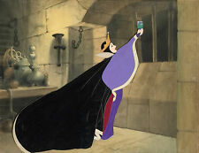 1937 WALT DISNEY SNOW WHITE EVIL QUEEN ORIGINAL PRODUCTION MASTER KEY CEL SETUP