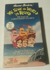 Hanna barbera -we think the world is round 1992 vhs cassette