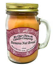 Banana Nut Bread Scented Candle in 13 oz Mason Jar by Our Own Candle Company