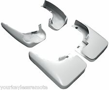 New Accessory Splash Mud Guards Flaps for Infiniti White Front + Rear Set Of 4