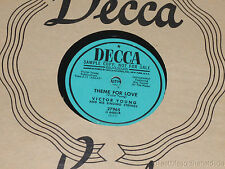 VICTOR YOUNG & SINGING STRINGS Theme For Love/ Invitation PROMO 78 Decca 27965