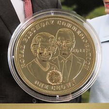 2011 TDC ROYAL BIRTHDAY COMMEMORATION GOLD LAYERED PROOF CROWN - coa