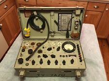 TV-7A/U Military Vintage Radio Electron Tube Tester Analyzer W/ Adaptors