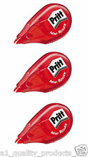 3 x Pritt Glue It Mini Roller, BNIB, Permanent Sticky Adhesive, Solvent-Free, 6M