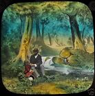 COLOUR Glass Magic Lantern Slide LITTLE TIZ NO5 C1890 VICTORIAN TALE