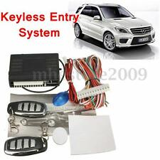 Car Keyless Entry Central Door Locking Alarm System Lock Kit & Remote Controller