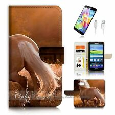 Samsung Galaxy S7 Flip Wallet Case Cover P3167 Horse