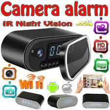 WIFI 1080P HD Clock Camera IR Night Vision Motion Detection Video U