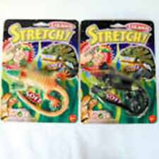 2 INCREDIBLE STRETCH LIZARDS soft squeeze & stretch toy