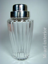 Art Déco Coctail Shaker WMF Kristall Silver Plated Cut Crystal Bar Ware 1930-40s