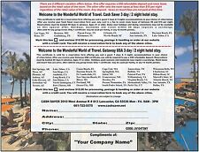 Get UNLIMITED NEW CUSTOMERS giving away 3 Day 2 Night Stay Vacation Certificates