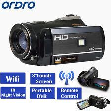 """ORDRO HDV-D395 3 """"écran tactile caméscope numérique caméra Full HD 1080p WiFi"""