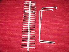 TIE RACK WHITE WIRE WITH MOUNTING BRACKET TIE OR BELT ORGANIZER CLOSET