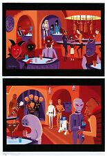 "Disneyland Postcard Set (2) -  WonderGround Gallery - ""A Wretched Hive"" by SHAG"