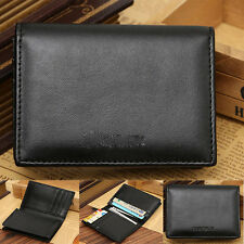 Cool Men Slim Leather Coin Wallet Bifold Credit Card Money Holder Mini Purse New