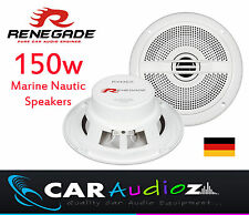 Renegade RXM-62 MARINE NAUTIC WATERPROOF OUTDOOR WHITE SPEAKERS BOATS WET ROOMS