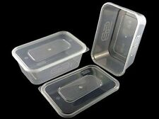10 x 650ml SATCO STRONG PLASTIC HEAVY DUTY FOOD GRADE STORAGE CONTAINERS + LIDS