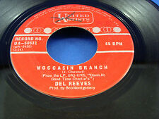 DEL REEVES - Moccasin Branch / Be Glad - 1969 STRONG VG+ CANADA PRESSING