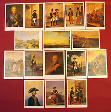 Russian Imperial ARMY UNIFORM 1797-1801 POSTCARDS set Officers & EM incl Suvorov